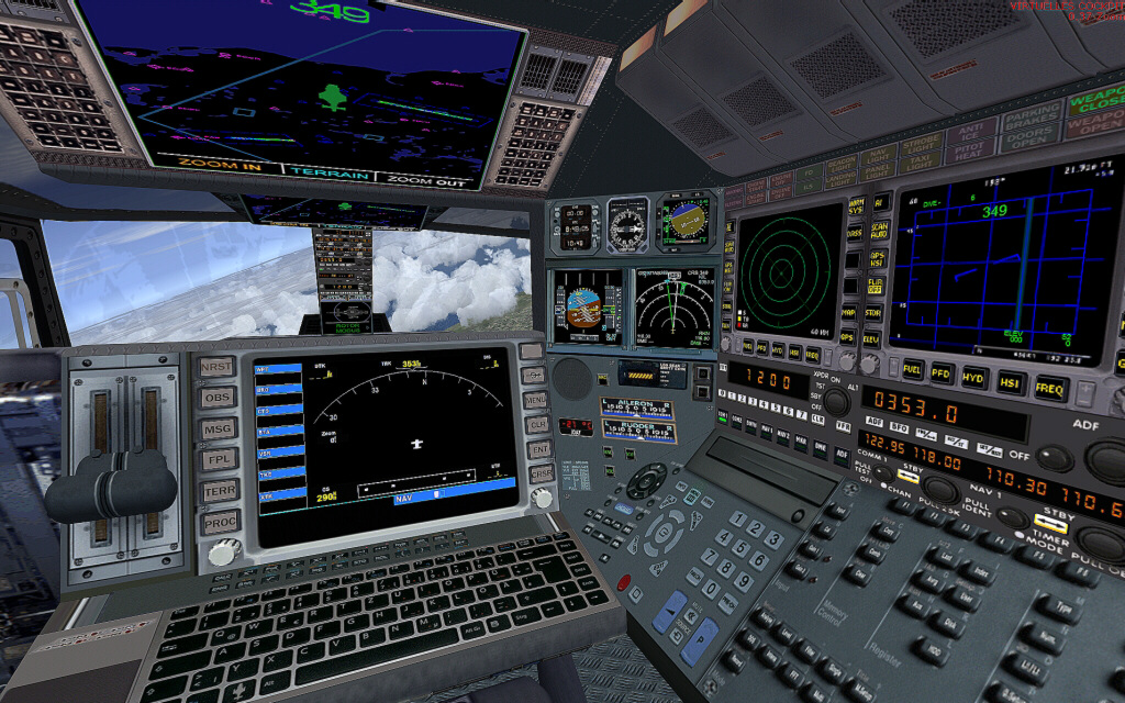 Airwolf Helicopter Cockpit Airwolf fsx - helicopter fsx