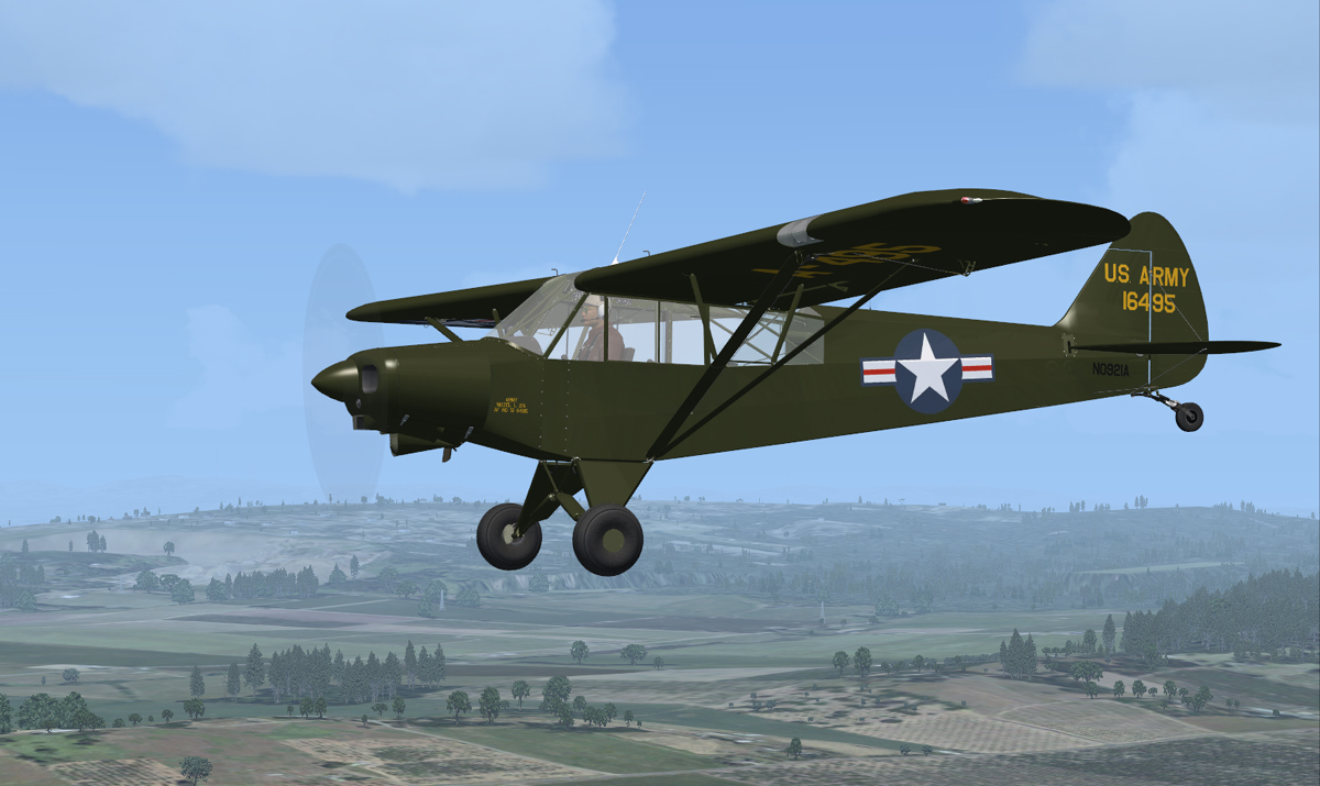 Fsx Super Cub Early Standard And Military Flight