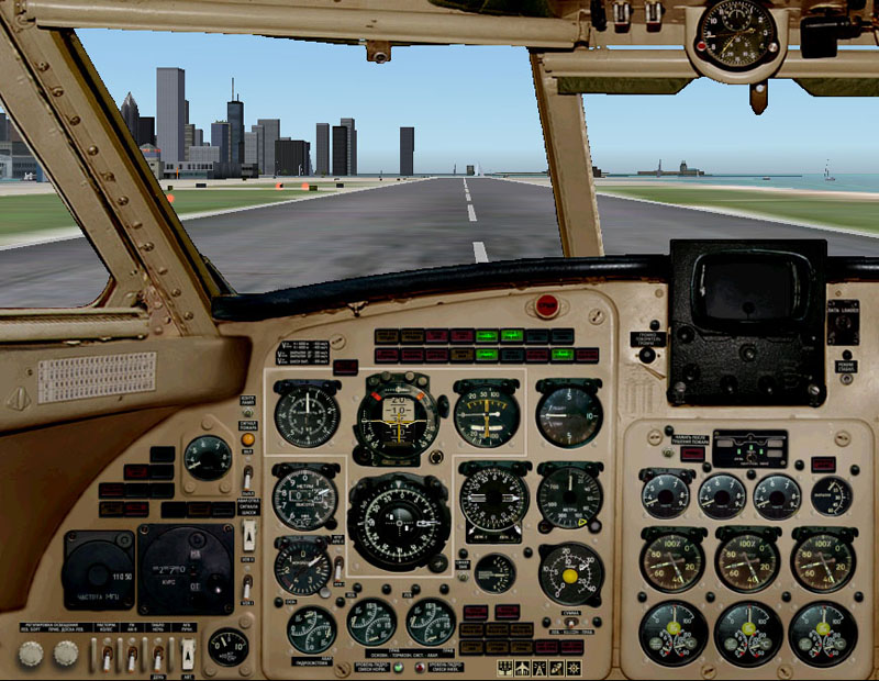 DBS Yak-40 Panel for FS2004 and FSX