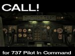 CALL! for 737 Pilot In Command