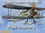 Gloster Gladiator Skis Winter War FSX